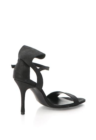 Mihaela Glavan Sandale de piele cu toc inalt si aspect lucios Femei