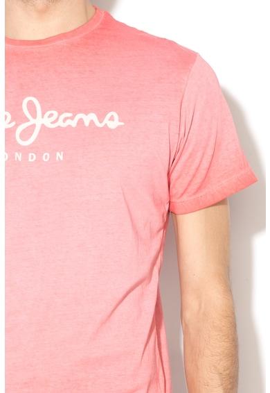 Pepe Jeans London Tricou regular fit cu aspect decolorat West Sir II Barbati