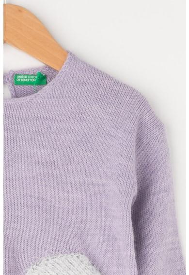United Colors of Benetton Pulover din amestec de lana cu buzunare aplicate Fete