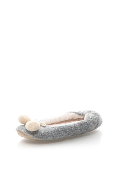 Triumph Papuci din materail teddy cu ciucure Femei