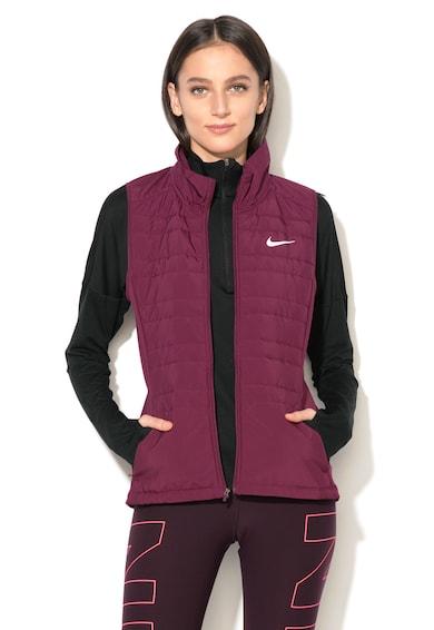 Nike Vesta cu guler scurt si interior din fleece, pentru alergare Femei