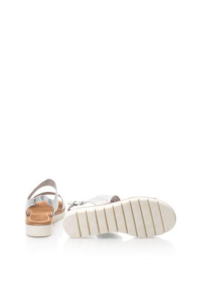 Marco Tozzi Sandale de piele intoarsa sintetica cu aspect lucios Femei