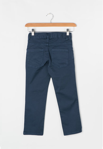 Zee Lane Kids Pantaloni bleumarin prafuit cu model discret Baieti