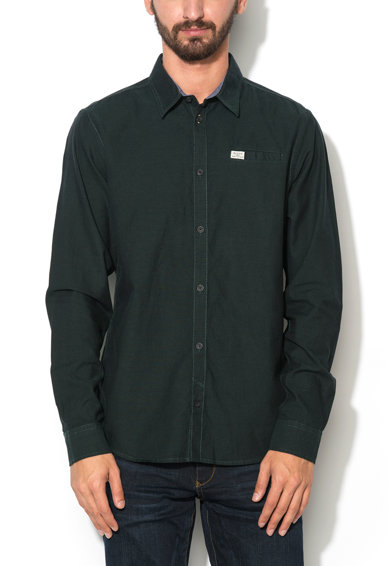 BLEND Тъмнозелена вталена риза Мъже