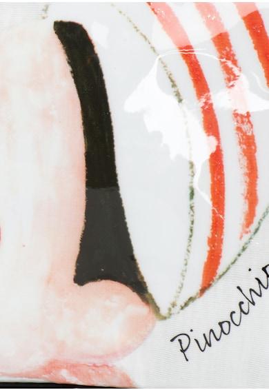 Undercolors of Benetton Geanta alb cu rosu cu Pinocchio pentru cosmetice Fete