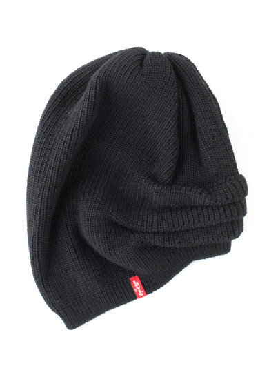 Levi's Caciula tricotata fin neagra cu design amplu Femei