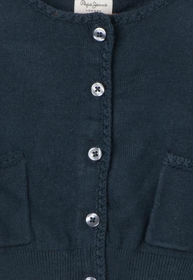Pepe Jeans London Cardigan bleumarin cu buzunare frontale Gemma Fete