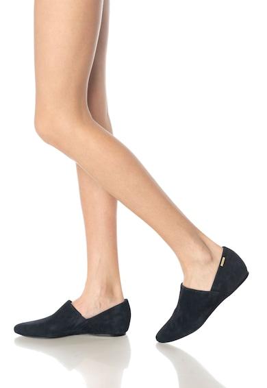 Calvin Klein Balerini bleumarin de piele intoarsa Magna Femei