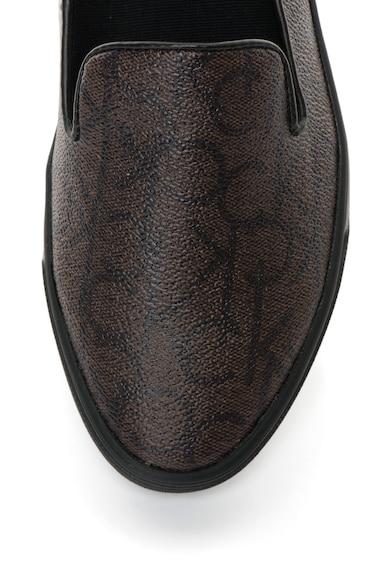 Calvin Klein Pantofi slip-on maro cu model logo Hyacinth Femei