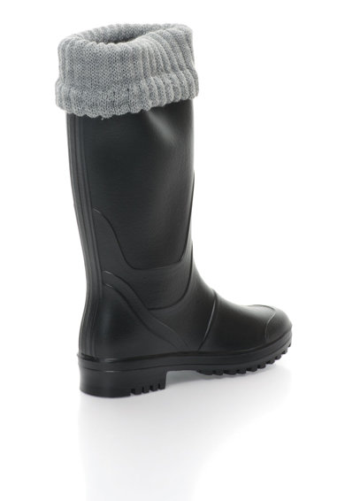 Favolla Cizme de ploaie negre cu margine superioara tricotata Catch Femei