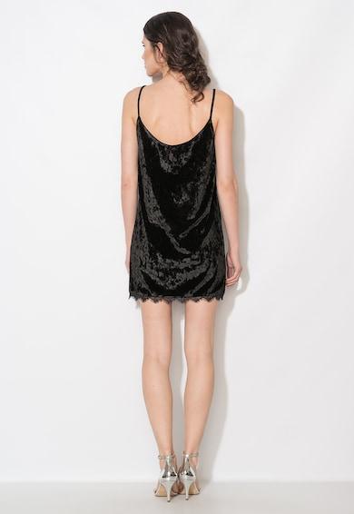 Zee Lane Collection Rochie neagra scurta catifelata Femei