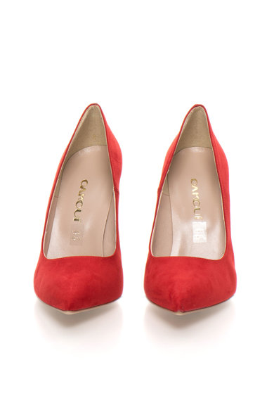 Oakoui Pantofi rosii de piele intoarsa sintetica Miriam Femei