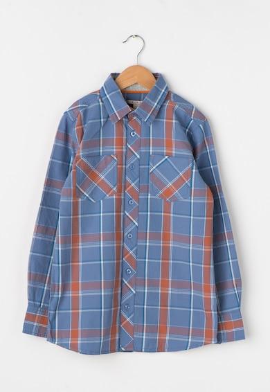 Esprit Camasa albastru pastel cu oranj in carouri Baieti