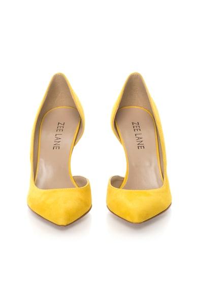 Zee Lane Pantofi d`Orsay galbeni de piele intoarsa Femei