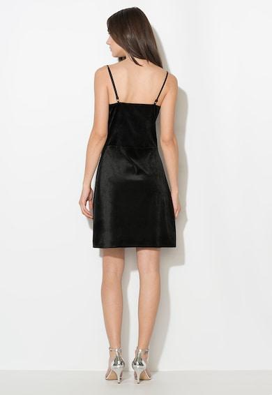 Zee Lane Collection Rochie neagra catifelata cu insertie de dantela Femei