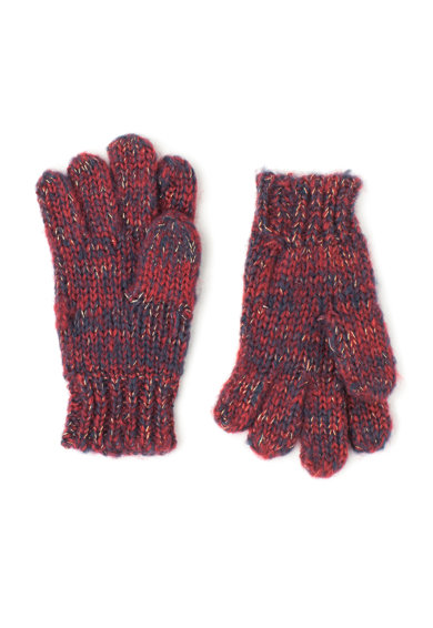 Pepe Jeans London Manusi tricotate rosu Bordeaux cu bleumarin Pupila Fete