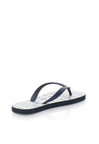 Dorina Papuci flip-flop bleumarin cu alb Femei
