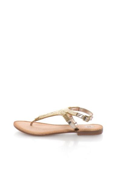 Gioseppo Sandale aurii cu bareta separatoare Ilsama Femei