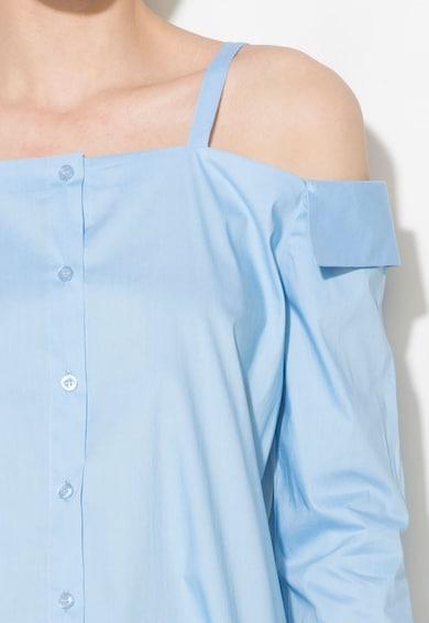 Zee Lane Denim Camasa albastru azur cu decolteu pe uneri Femei