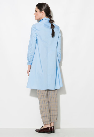 Zee Lane Denim Rochie tip camasa asimetrica albastru azur Femei