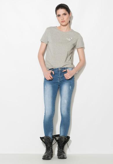 Zee Lane Denim Jeansi skinny albastri cu nituri Femei