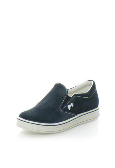 Primigi Pantofi slip-on bleumarin de piele intoarsa Baieti
