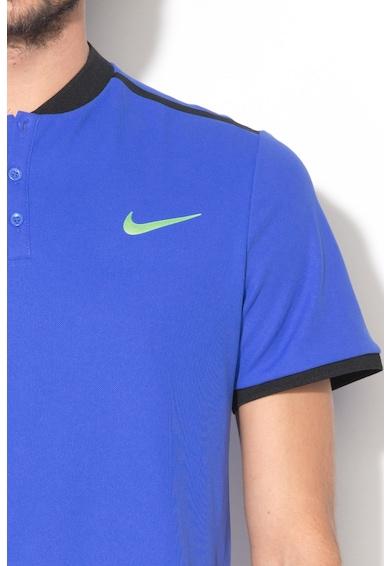 Nike Tricou sport cu fenta cu nasturi Barbati