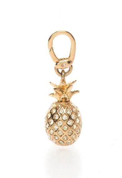 Juicy Couture Pandantiv auriu in forma de ananas cu strasuri Femei