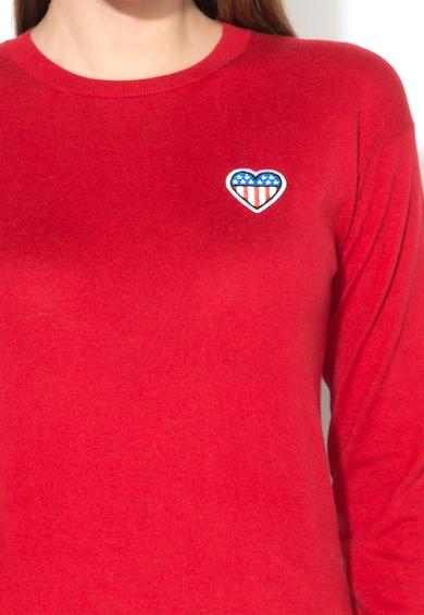 Love Moschino Bluza rosie de jerseu si amestec de matase Femei
