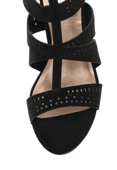 Bullboxer Sandale negre cu toc stiletto si decupaje decorative Femei