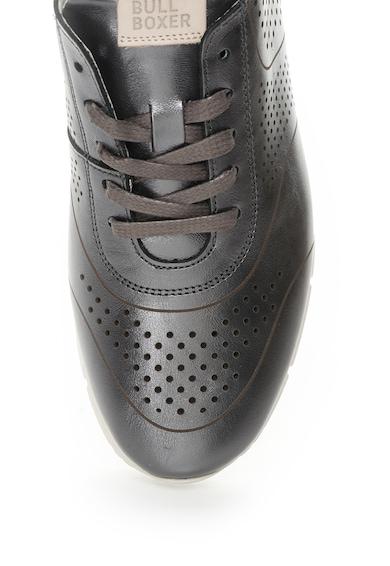 Bullboxer Pantofi sport gri hematit de piele cu detalii perforate Femei