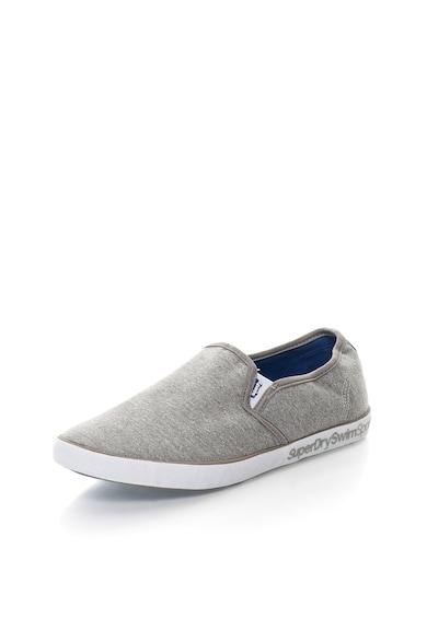 SUPERDRY Pantofi slip-on gri deschis melange Diver Barbati