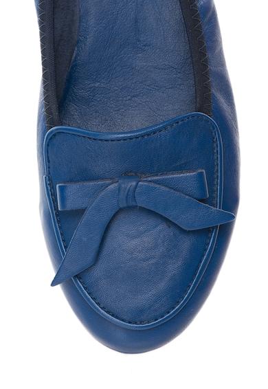 Zee Lane Balerini albastri de piele cu terminatie elastica Stefy Femei