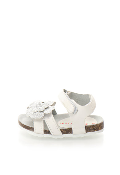 Zee Lane Sandale alb cu argintiu cu aplicatie florala Ariel Fete