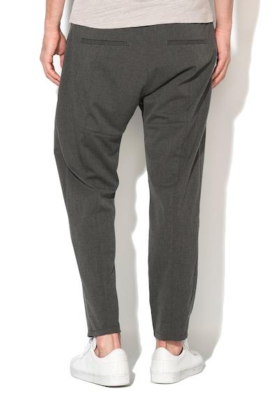 Zee Lane Denim Pantaloni conici gri inchis Barbati
