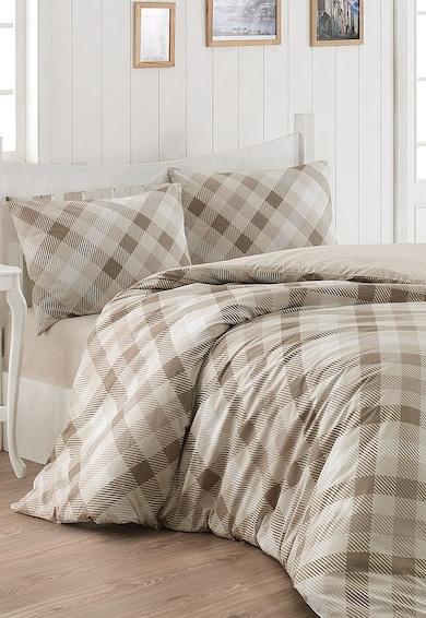 Leunelle Set de pat bej cu gri in carouri Lodge Femei
