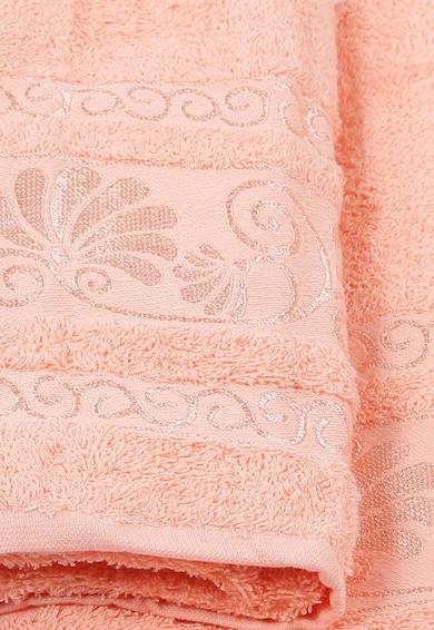 Leunelle Set de prosoape roz somon cu broderie Cicek - 2 piese Femei
