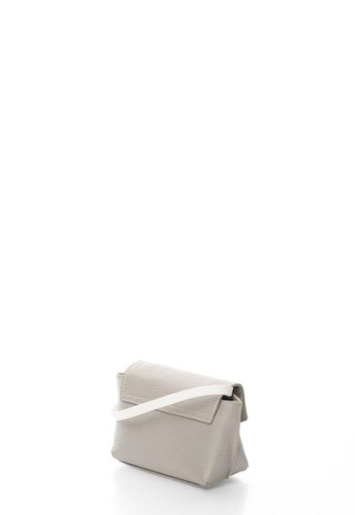 Pollini Geanta crossbody argintiu deschis cu bareta alba Femei