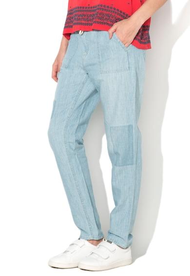 Pepe Jeans London Pantaloni bleu vaporosi Labyrinth Femei