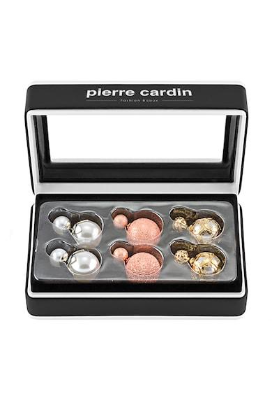 Pierre Cardin Set de cercei multicolori cu doua sfere - 3 perechi Femei