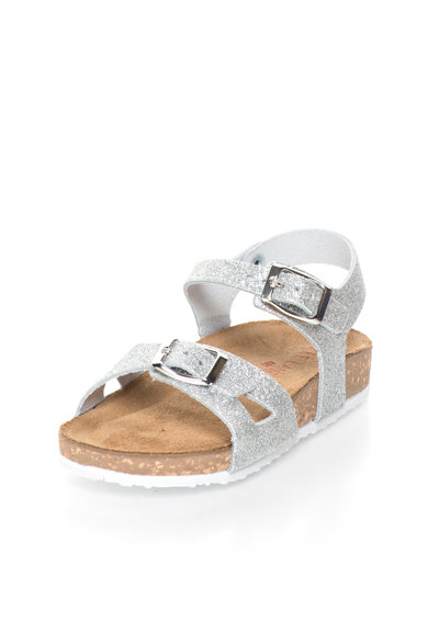 Zee Lane Sandale argintii stralucitoare de piele Fete