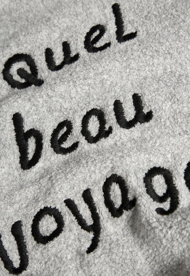NEXT Bluza sport gri din material fleece Slogan Fete