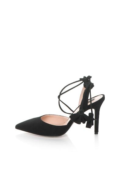 Marella Pantofi slingback negri de piele intoarsa Nabab Femei