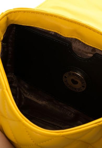 Love Moschino Geanta mica galben aprins cu detalii aurii Femei