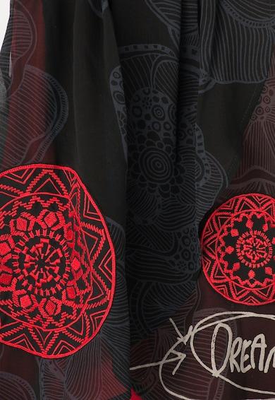 DESIGUAL Rochie negru cu rosu si strat exterior transparent Chicago Fete