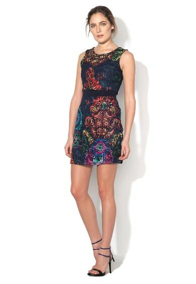 DESIGUAL Rochie multicolora crosetata Be Femei
