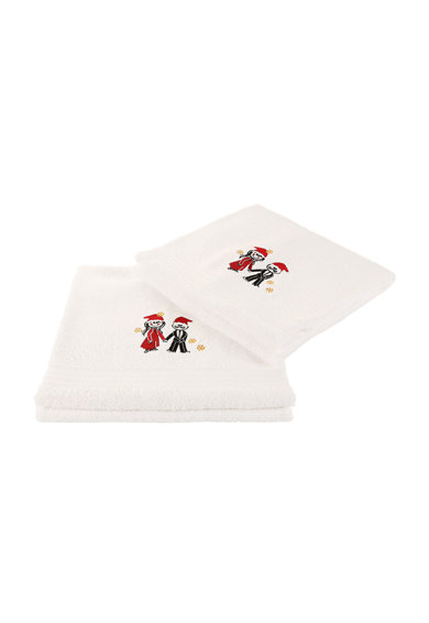Leunelle Set de prosoape albe cu broderie tematica - 2 piese Femei