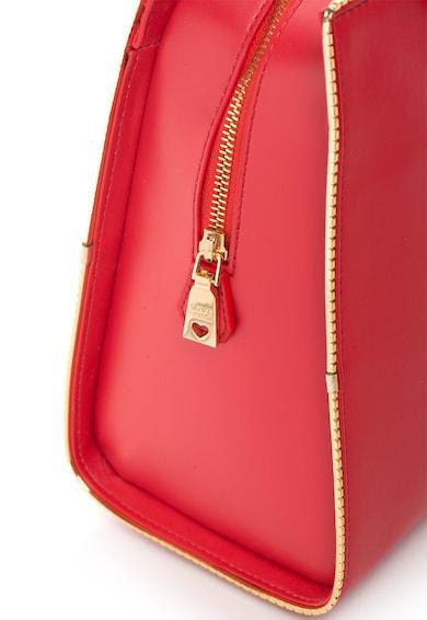 Love Moschino Geanta rosie cu detalii aurii Femei