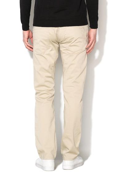 GUESS JEANS Pantaloni slim fit bej cu croiala dreapta Vermont Barbati