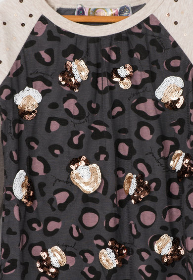 DESIGUAL Bluza multicolora cu animal print Virginia Fete